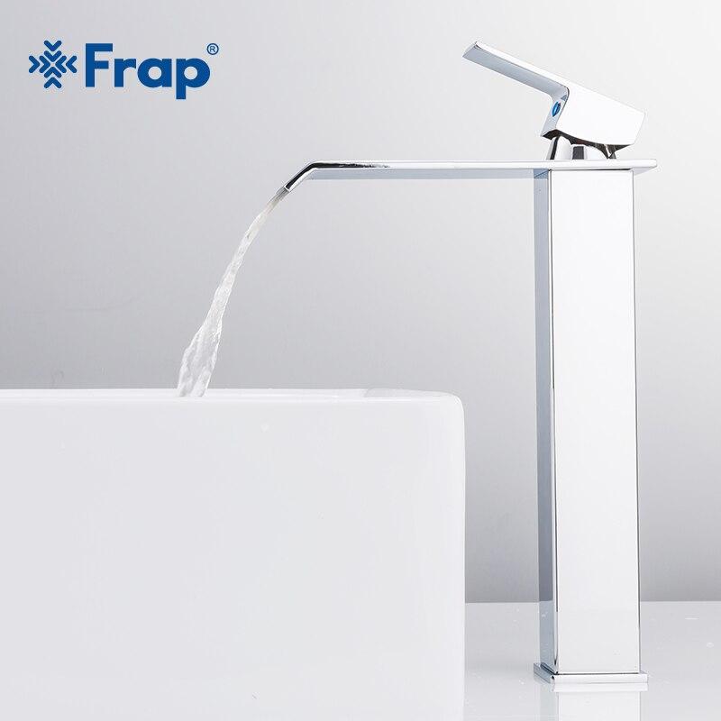 Frap nouveauté cascade robinet en laiton salle de bains robinet salle de bain bassin robinet grand mélangeur robinet chaud et froid évier robinet Y10145