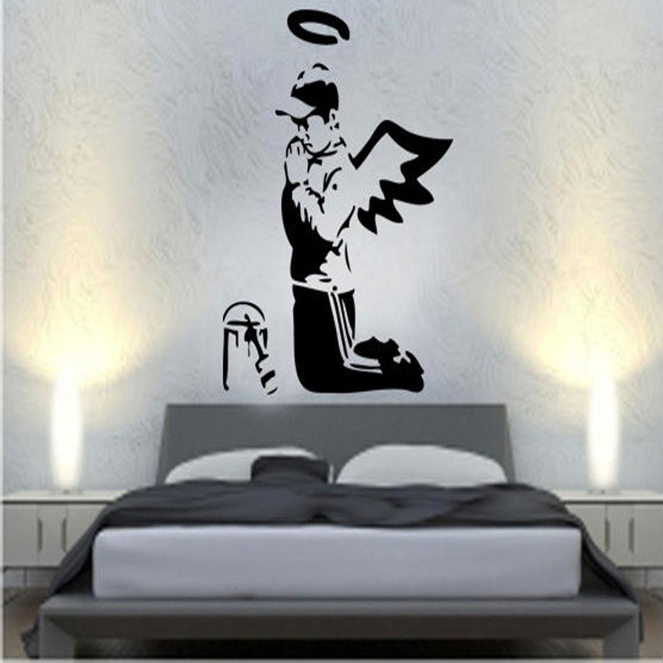 Graffiti wall vinyl - Banksy Prayers D Eacute Calco Vinyle Mural Autocollant Art Graffiti Rue China