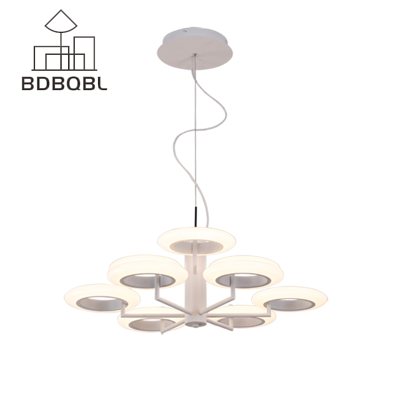 BDBQBL Modern Iron Pendant Light for Living Room Bedroom Foyer Study Hanging Lights White LED Pendant Lamp Lighting Fixture hghomeart children room iron aircraft pendant light led 110v 220v e14 led lamp boy pendant lights for dining room modern hanging