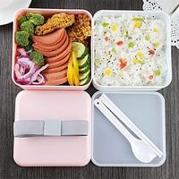 2017 جديد 1 قطع اليابان أسلوب ميكرووافابل مربع الغداء المحمولة ذات الطابقين الحرارة العالية الأشرطة تخزين مربع