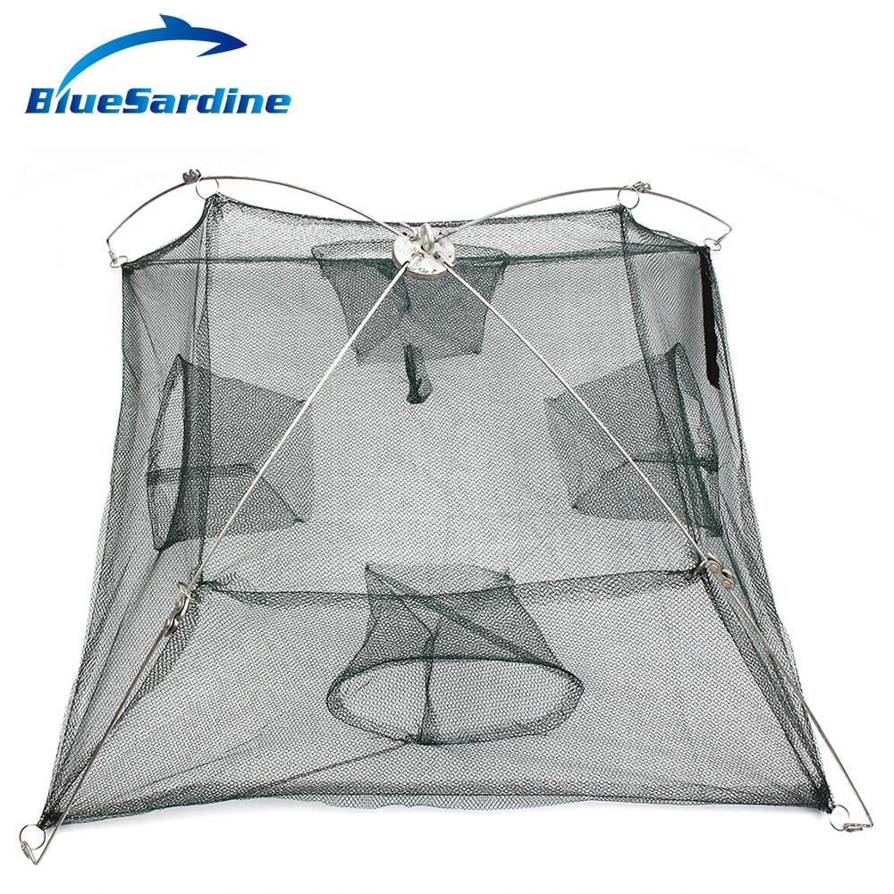 BlueSardine Folding Fishing Net 4 Sides 4 Holes High Quality Small ...