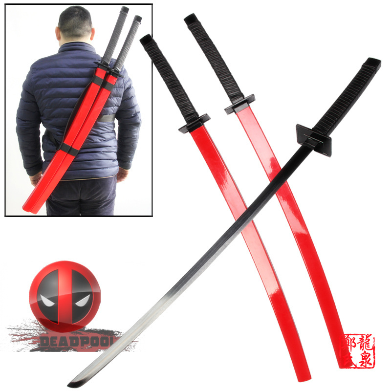 Knives, Swords & Blades Deadpool Dual Two Ninja Swords With X Back Harness Carrying Scabbard Collectibles