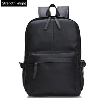 Men Women PU Leather Vintage Backpack Fashion Leisure Male School Black Day Brown Rucksack Casual Backpack three box mens backpack fashion pu leather backpack leisure student school bag for women men vintage casual laptop business bags