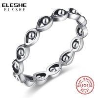 3 Size 6 7 8 Original 925 Sterling Silver Turkish Evil Eye Stackable Finger Rings For