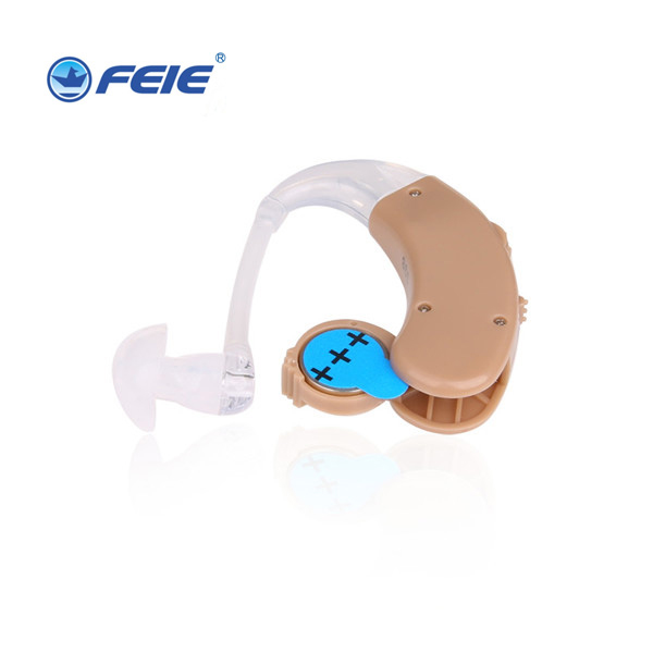 Portable Best Quality BTE Deafness Hearing Aid mini amplifer ear S-998 with three sizes ear plugs Drop Shipping bte hearing aid volume adjustable tunnel ear plugs mild to moderate hearing loss analog s 998 ear care free shipping to russia