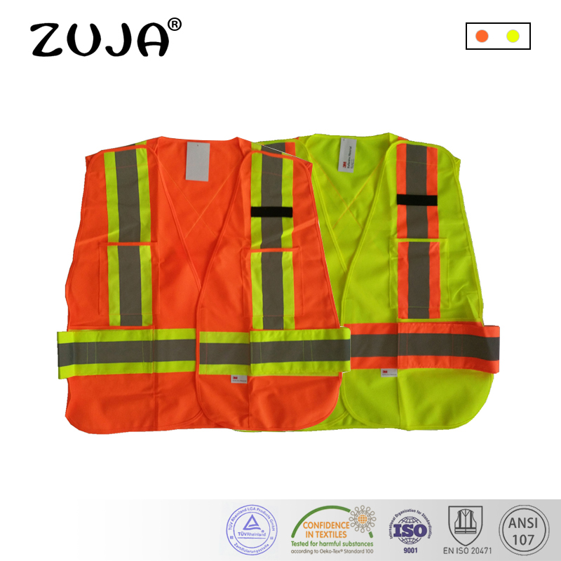 Hi-Vis Safety Vest 5 Point Breakaway Waistcoat acket EN471 Yellow Orange power pro hi vis yellow 92м 0 08mm