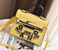 Luxury Designer Women Handbag Leather Tote Bag Louis Famous Brand Handbags Fashion Graffiti Car Shoulder Bags