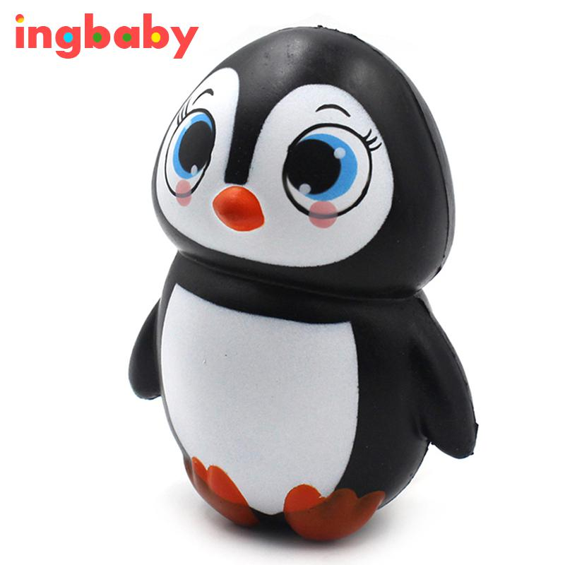 1pc Squashy Slow Rebound Female Penguin PU Simulation Doll Penguin Children Toy Ornaments Novel Decompression Toy ingbaby WJ1208