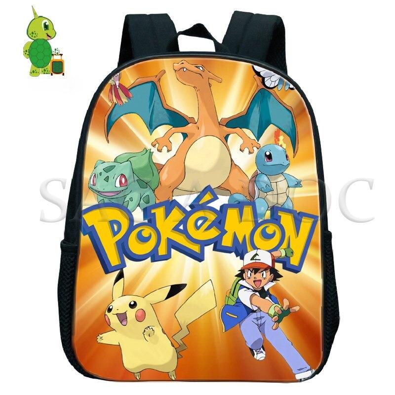 Pokemon Pikachu Charizard Backpack Toddler Backpack Baby Boys Girls Primary Kindergarten Backpack Children School Bags