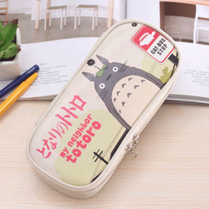 New Arrival Cute Cartoon Animal PU Leather School Pencil Case Waterproof Pencil Bag Large Capacity Pencil Box Stationery new shop 220904 primary school students pencils female disney ice and snow children cute box simple large capacity pencil case