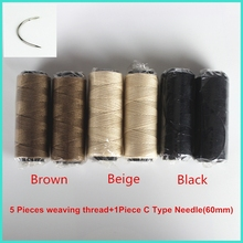 Free Shipping 1pcs C type hook needles plus 5 rolls weaving threads(China)