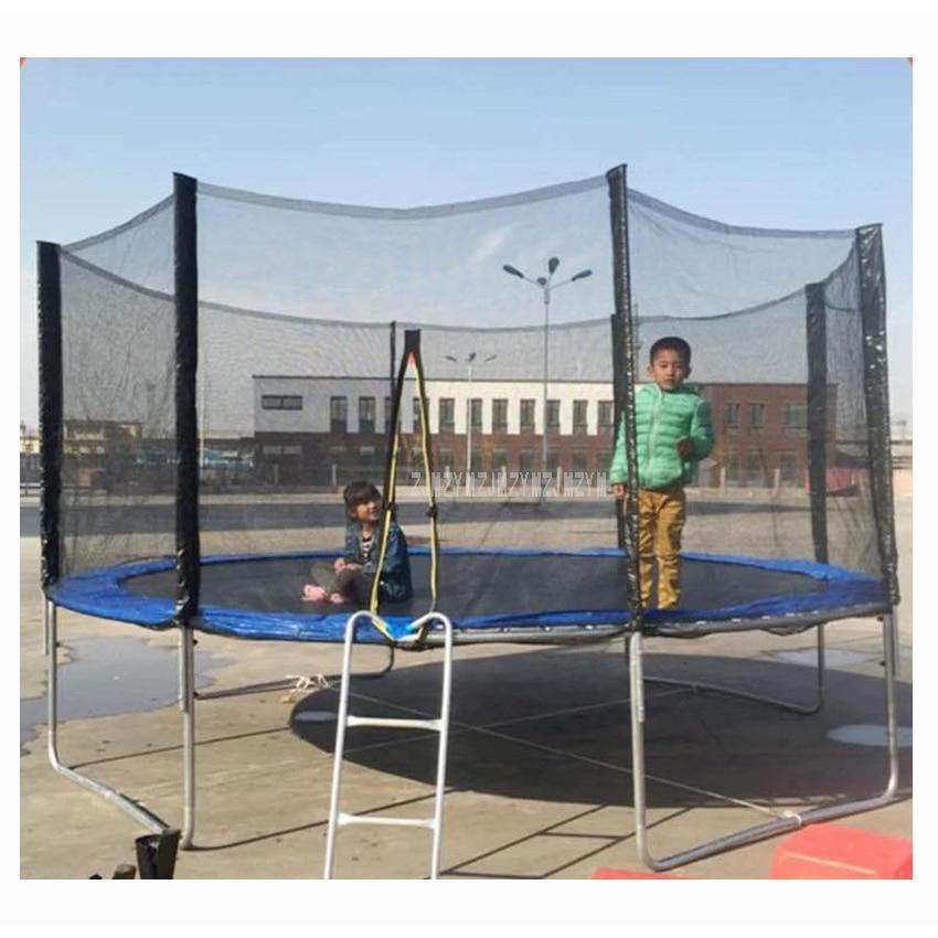 Trampoline pratique de 14 pieds avec filet de protection sûr saut coffre-fort sécurité de ressort avec échelle poids de charge 600 kg haute qualité