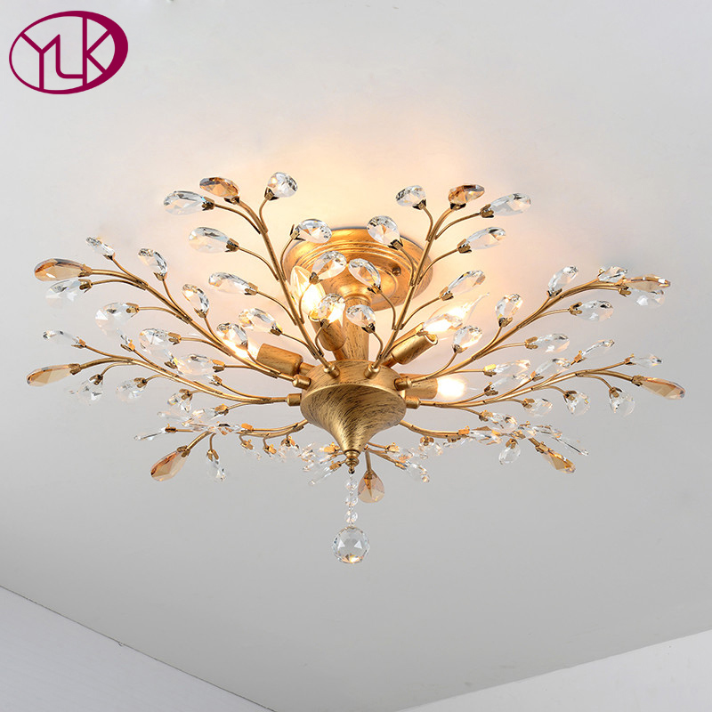 Free Shipping Modern Crystal Light Chandelier For Living Room Top Luxury Crystal Light For Ceiling Lustre Home Decor Lighting lustre flush mount led modern crystal ceiling lamp lights with 1 light for living room lighting free shipping