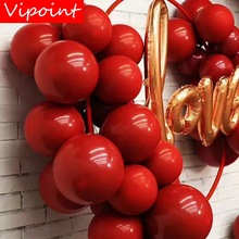 VIPOINT PARTY 100pcs 10inch red latex balloons wedding event christmas halloween festival birthday party PD-135