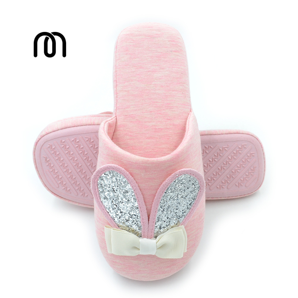 Millffy rabbit le sucre new cute little bunny padded stripes sweat home confinement shoes slippers at