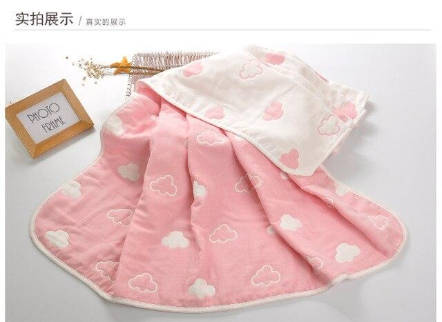 Bebé grueso calidad manta recién nacido 6 capas Ropa de cama otoño invierno  Bebé transpirable muselina a089b6408b71