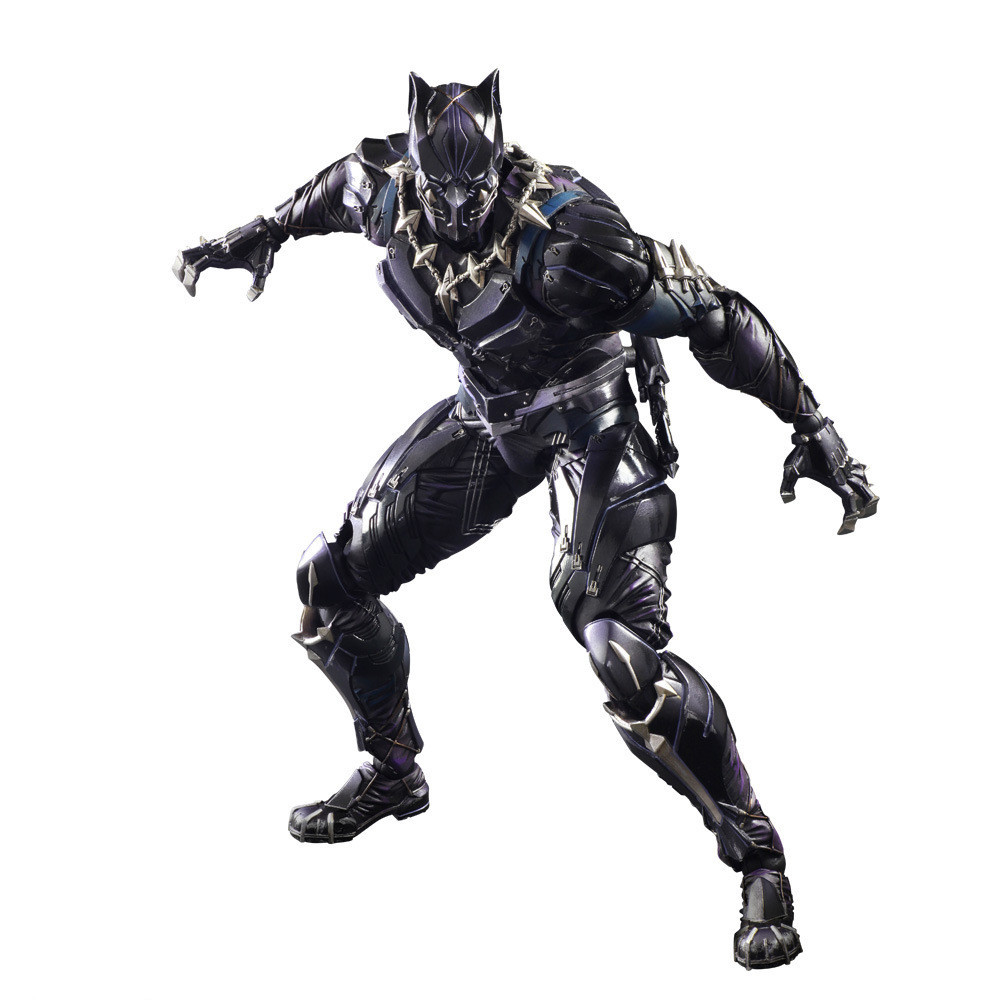 2018 New Solid 3D Marvel Avengers Black Panther Super Hero PVC Action Figure Model Joint Mobility Toy free shipping super big size 12 super mario with star action figure display collection model toy