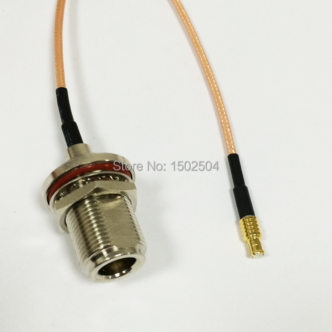 1PC New  N  Female Jack   Connector  Switch   MCX Male Plug   Convertor  RG316 Wholesale  Fast Ship 15CM 6 Adapter new n male plug connector switch uhf female jack nut connector rg178 cable 15cm 6 adapter wholesale fast ship