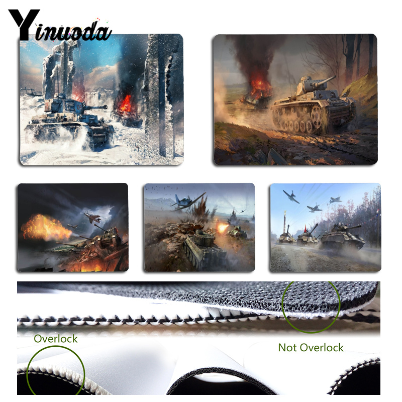 Yinuoda War Thunder Customized laptop Gaming mouse pad Size for 18x22x0.2cm Gaming Mousepads