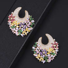 SISCATHY 2019 Hot Luxury Goegeous Shiny Handmade Stud Earrings original mujer moda Charm Jewelry boucle doreille femme