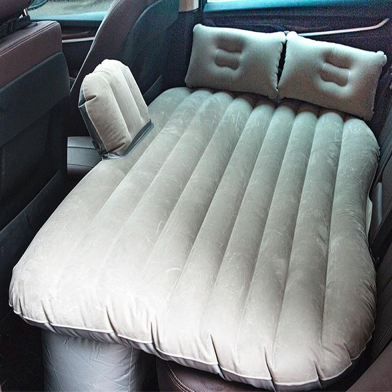 Multifunctional Car Mattress Inflation Bed Air Bed Camping Car Back Seat Extra Mattress with Repair Pad Air Pump Two Pillows