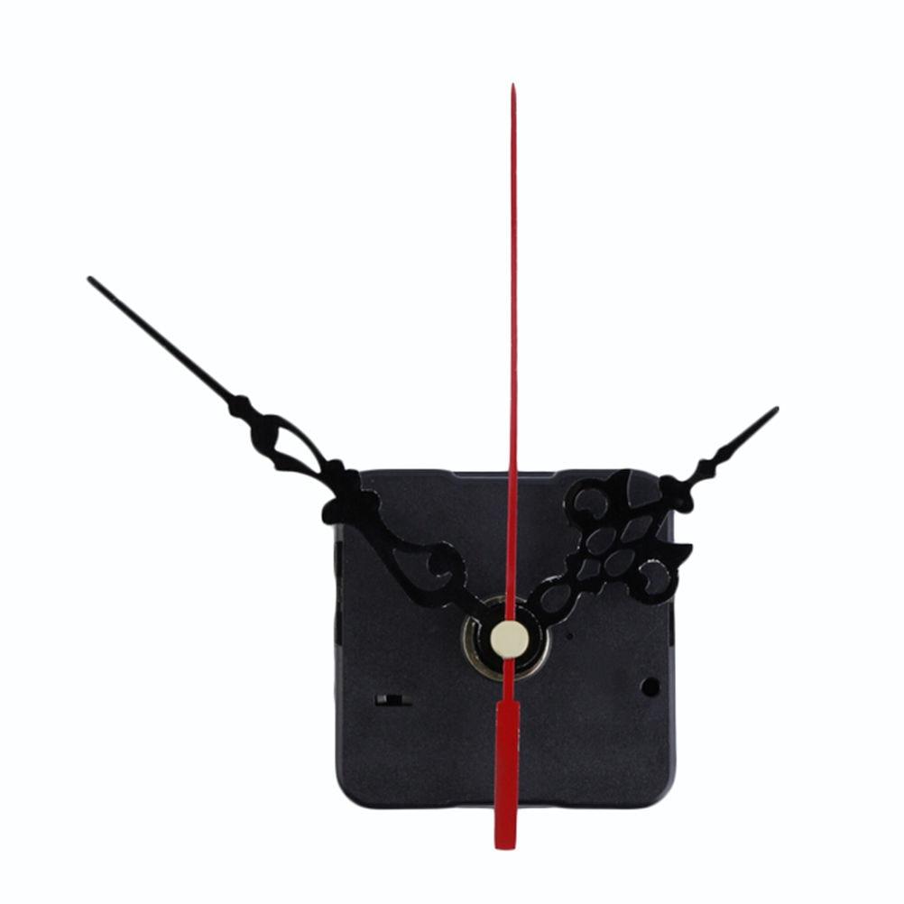 1 Set Stille Wandklok Quartz Uurwerk Mechanisme Zwart Rood Diy Wandklok Quartz Klok Uur/Minuut Hand Klok beweging|Klok Onderdelen & Accesoires|   - AliExpress