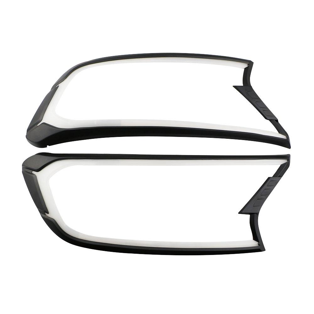 DRL LED daytime running light Headlights cover for ford ranger T7 2016 accessories for ford ranger everest endeavour 2017