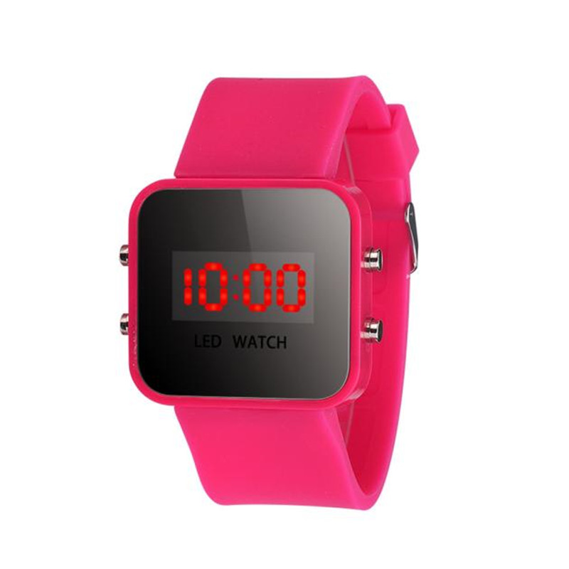 Unisex Womens Mens LED Screen Digital Silicone Strap Watch Quartz Sport Kids Girl Boy Wrist Watch Wristwatch For Children Kid's fashion snake shape boy girl children watch sport led digital wristwatch for women men black rubber running ladies watch kids