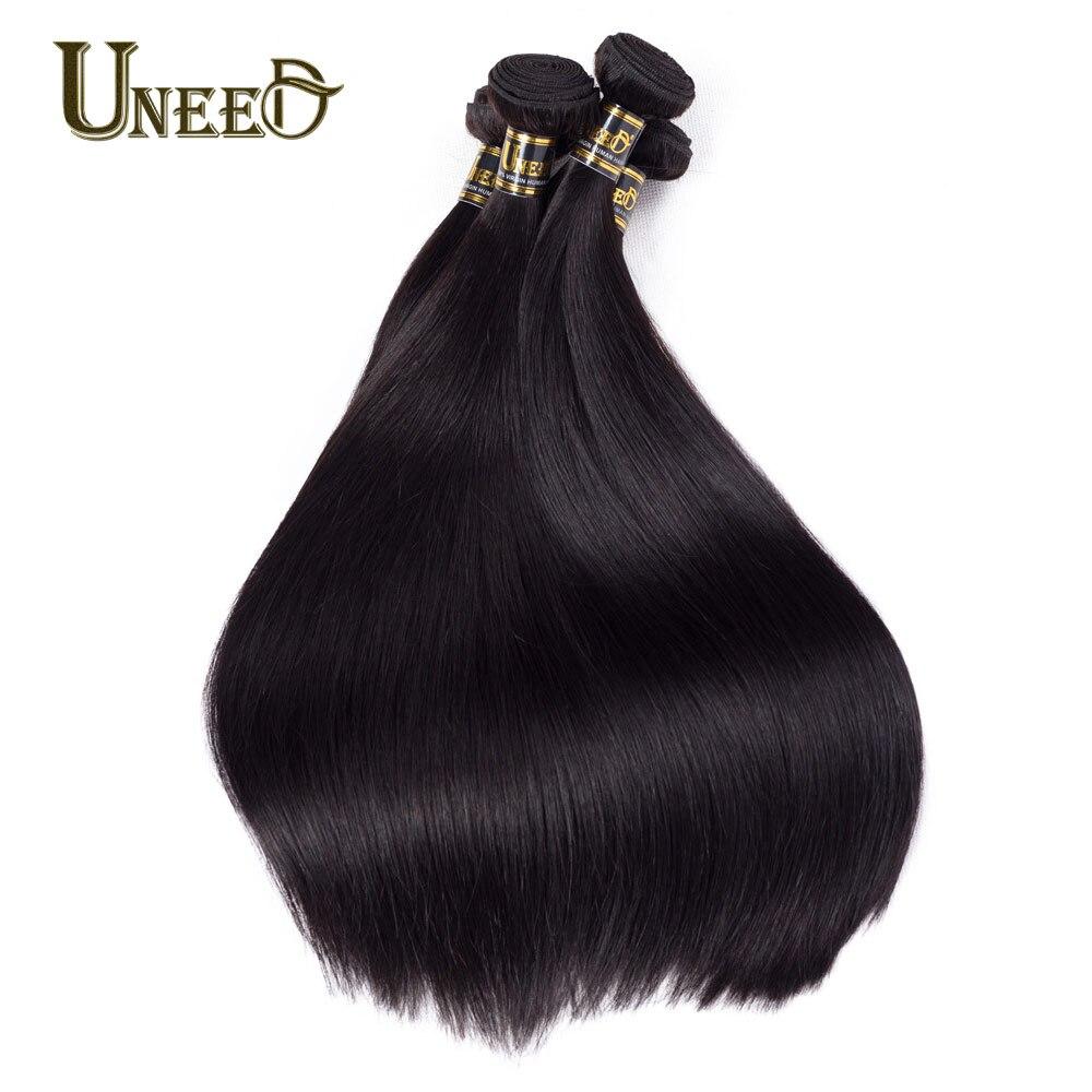 3 Связки Malaysian прямо Человеческие волосы Ткань Связки Реми Химическое наращивание волос натуральный черный могут быть окрашены отбеленные ...