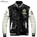 Baseball Leather Jacket College Jaqueta Couro Men's PU Leather Jacket Street Jacket High Quality Autumn  Coat nswt3076