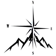 11.8 cm * 12.9 cm NSWE Modo Compass Rose Navigare 4x4 Offroad Car Sticker Vinyl Decalcomanie S6-3545(China)
