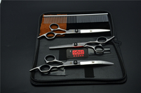 4Pcs Suit 7 0 19 5cm Kasho Professional Hair Hairdressing Scissors Comb Cutting Shears Thinning Down