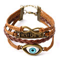 New Arrival Trendy Handmade Braid Bracelets Bestfriend Eyes Charm Multilevel Bangle Bracelet Men And Women Best Gift