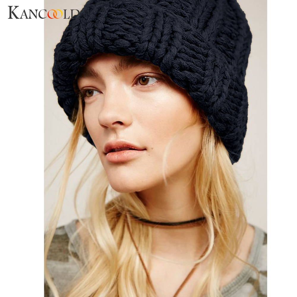 Hat woman girl fashion keep warm manual wool knitted earmuffs hats girls caps high quality hat woman 2018nov15