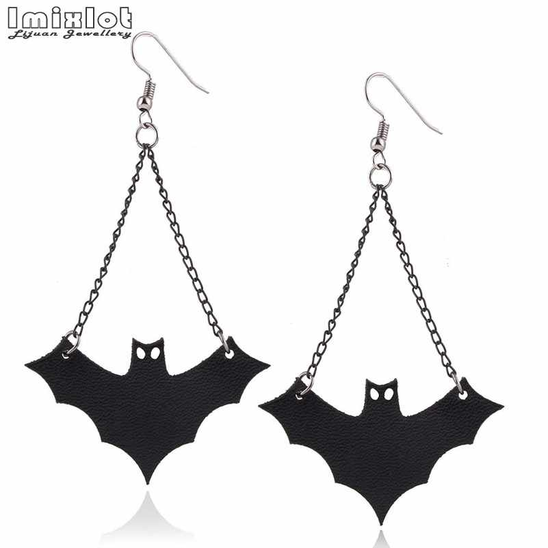 New Design Personalized Cute Bats Drop Earrings Women Halloween Jewelry Accessories Creative Strange Halloween Bat Earrings