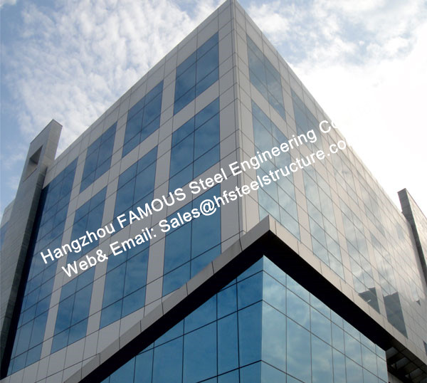 Spider Glass Facade Curtain Walls Bolted Point Fixed Glazing Curved Design For Exhibition Booth