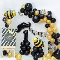 Yellow Black Balloon Lovely Honey Bee Balloon Birthday Party Baby Shower Decoration 1st 2 3 4 5 birthday party idea