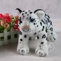 simulation animal 30x18 cm snow leopard plush toy emulation doll k0583