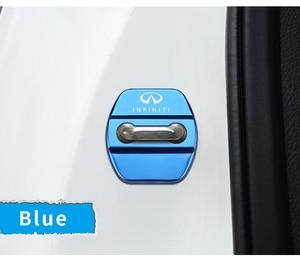 Image 4 - 4pcs Car Styling Auto Door Lock Cover Car Sticker Case For Infiniti FX35 Q50 Q30 ESQ QX50 QX60 QX70 EX JX35 G35 G37 EX3