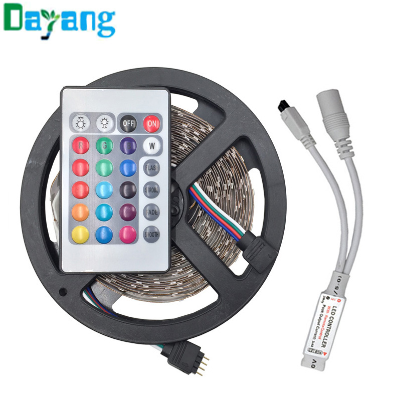 non waterproof rgb 5050 3528 led strip light 5m 300 leds. Black Bedroom Furniture Sets. Home Design Ideas