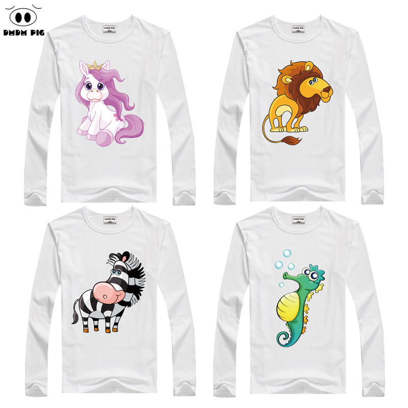 DMDM PIG Children's Clothing Toddler Long Sleeves T-Shirts For Girls Boys Tops Tee T Shirts Kids TShirts Baby Clothes 7 8 Years red pile collar long sleeves casual t shirts