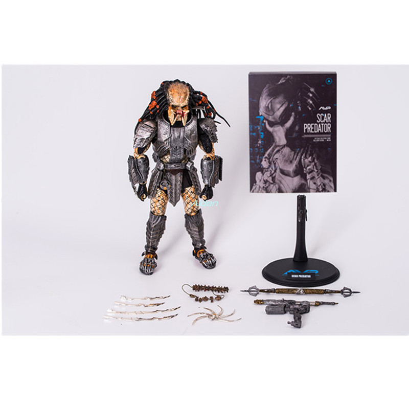 13 Alien vs. Predator SCAR PREDATOR MMS190 The Predator PVC Action Figure Collectible Model Toy BOX L1113 Alien vs. Predator SCAR PREDATOR MMS190 The Predator PVC Action Figure Collectible Model Toy BOX L11