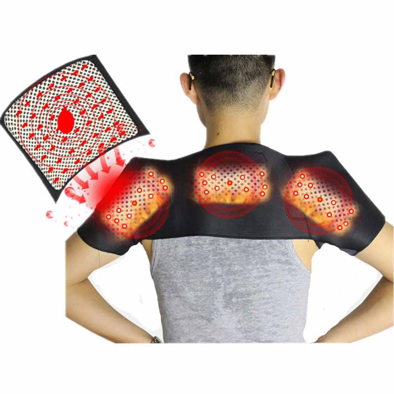 Tcare Pain Relieve Magnetic Therapy Protezione spalle Spontaneous Heating Massage Tourmaline Shoulder Heating Belt