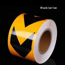 10 ซม.X 5 M คุณภาพสูงคำเตือนความปลอดภัยเทป Conspicuity สติกเกอร์ฟิล์ม Multicolor