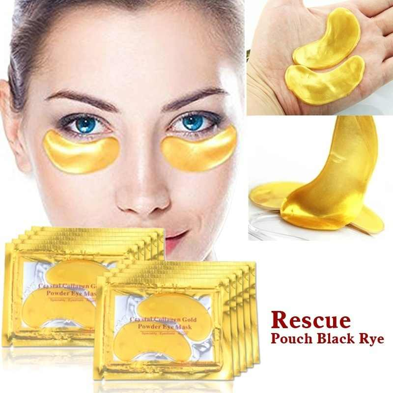 1 PCS Gold Collageen 24 k Goud Serum voor Ogen Eye Patches Dark Circle Wallen Anti-Aging Rimpel Collageen oogmasker Ogen Pad TSLM1