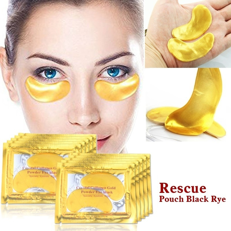 1PCS Gold Collagen 24k Gold Serum For Eyes Eye Patches Dark Circle Puffiness Anti-Aging Wrinkle Collagen Eye Mask Eyes Pad TSLM1