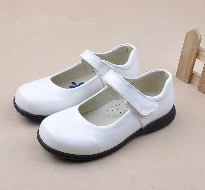 Children Girls Shoes Classic Single Shoe Kids Baby Glowing Black Patent Leather Shoes School Student Performance Shoe