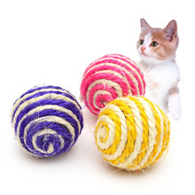 Soft Cotton Rope Dog Toys Hand Knit Knot Ball Tooth Cleaning Toy Balls for Pet Training Playing Chewing Supplies