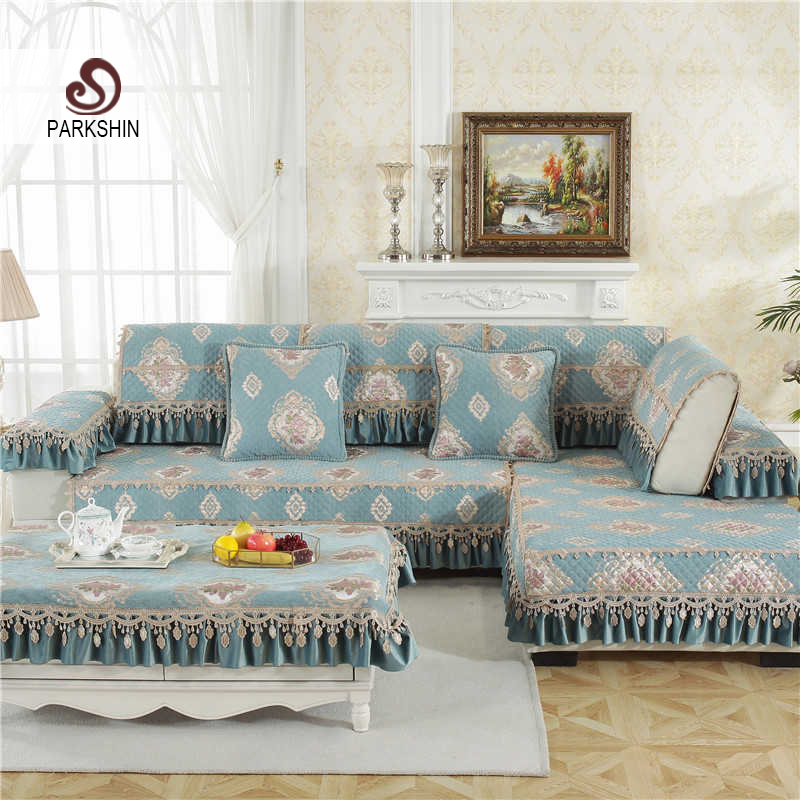 US $11.29 43% OFF|Parkshin Modern Sofa Covers Nordic Living Room Euro Plaid  Blue Jaquard Couch Cover Meeting Sofa Case Corner Sofa Seat Covers-in Sofa  ...