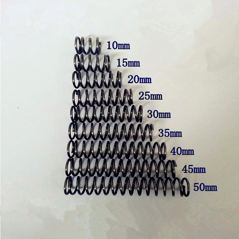mm Length 10pcs Custom Small Diameter Toy Compression Springs,1mm Wire Diameter X 12mm Out Diameter X 10-50